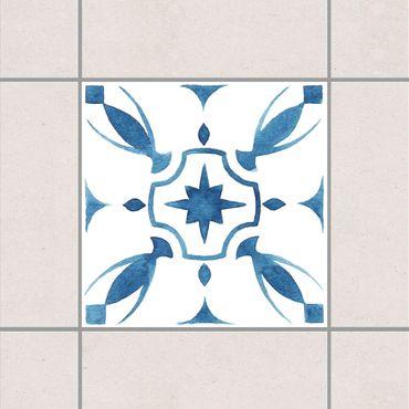 Fliesenaufkleber - Muster Blau Weiß Serie No.1