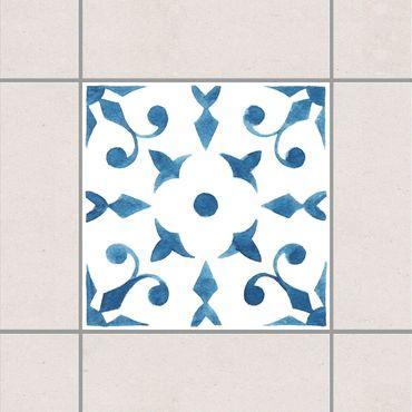 Fliesenaufkleber - Muster Blau Weiß Serie No.6