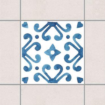 Fliesenaufkleber - Muster Blau Weiß Serie No.7