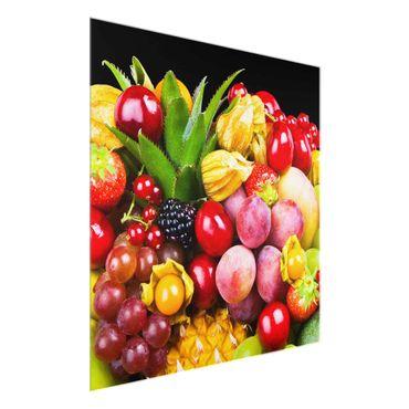 Glasbild - Fruit Bokeh - Quadrat 1:1