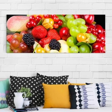 Glasbild - Obst Mix - Panorama Quer