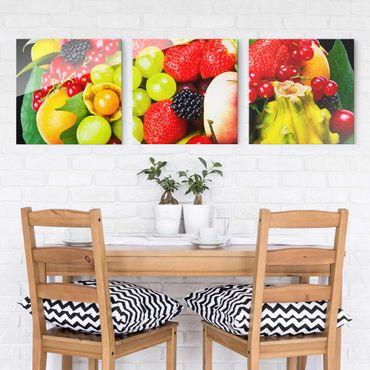 Glasbild mehrteilig - Fruit Basket 3-teilig