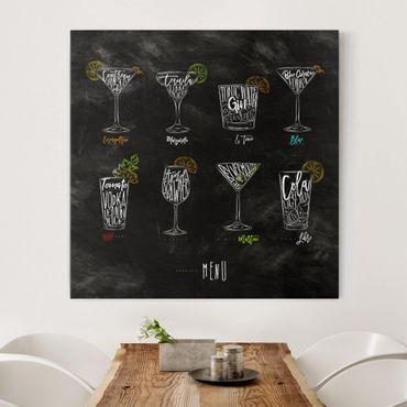Leinwandbild - Cocktail Menu - Quadrat 1:1