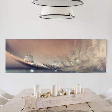Leinwandbild - Story of a Waterdrop - Panorama Quer