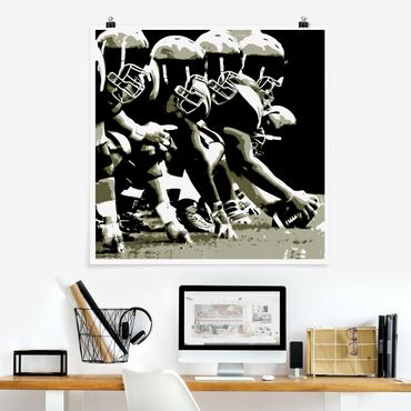 Poster - American Football - Quadrat 1:1