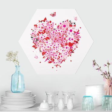 Hexagon Bild Forex - Floral Retro Heart