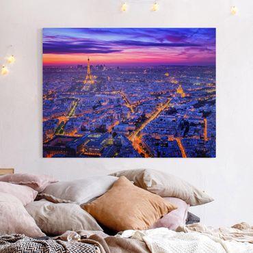 Leinwandbild - Paris bei Nacht - Querformat 3:4