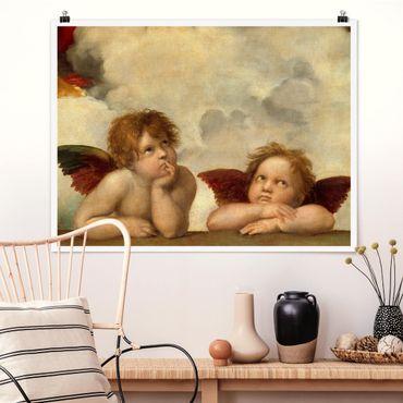 Poster - Raffael - Zwei Engel - Querformat 3:4