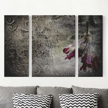 Leinwandbild 3-teilig - Mystic Flower - Triptychon