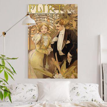 Leinwandbild - Alfons Mucha - Werbeplakat für Flirt Biscuits - Hochformat 3:2