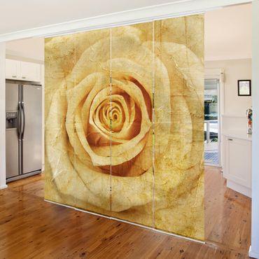 Schiebegardinen Set - Vintage Rose - Flächenvorhänge