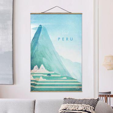 Stoffbild mit Posterleisten - Reiseposter - Peru - Hochformat 3:2