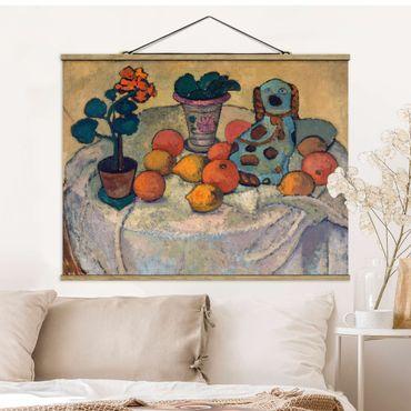Stoffbild mit Posterleisten - Paula Modersohn-Becker - Stillleben mit Orangen - Querformat 4:3