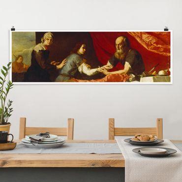 Poster - Jusepe de Ribera - Isaac und Jakob - Panorama Querformat