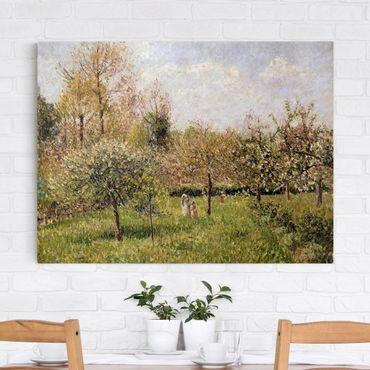 Leinwandbild - Camille Pissarro - Frühling in Eragny - Querformat 3:4