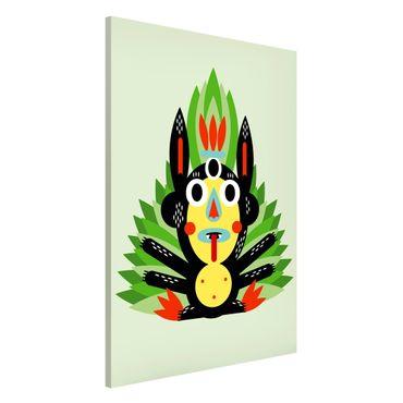 Magnettafel - Collage Ethno Monster - Dschungel - Memoboard Hochformat 3:2