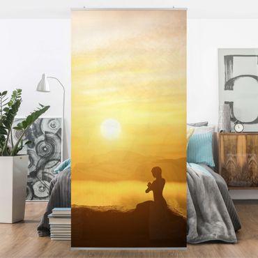 Raumteiler - Yoga Meditation 250x120cm