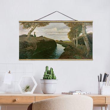 Stoffbild mit Posterleisten - Otto Modersohn - Moorlandschaft - Querformat 2:1