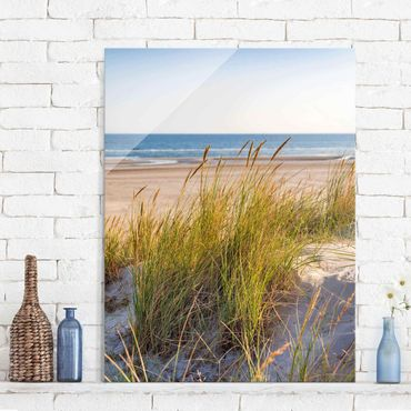 Glasbild - Stranddüne am Meer - Hochformat 4:3