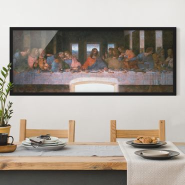 Bild mit Rahmen - Leonardo da Vinci - Das letzte Abendmahl - Panorama Querformat