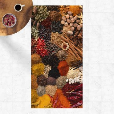 Vinyl-Teppich - Exotische Gewürze - Hochformat 1:2