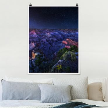Poster - Grand Canyon Night - Hochformat 3:4