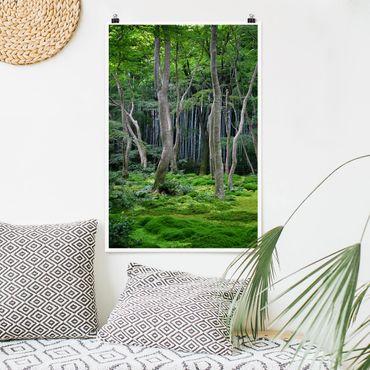 Poster - Japanischer Wald - Hochformat 3:2