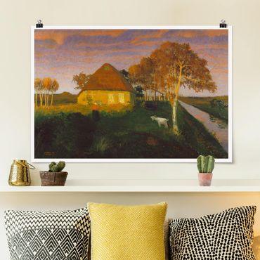 Poster - Otto Modersohn - Moorkate im Abendsonnenschein - Querformat 2:3