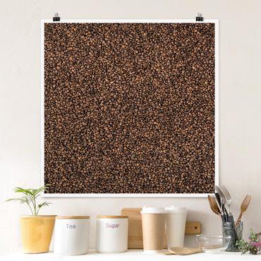 Poster - Sea of Coffee - Quadrat 1:1