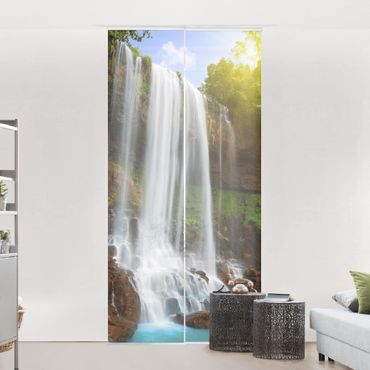 Schiebegardinen Set - Waterfalls - Flächenvorhänge