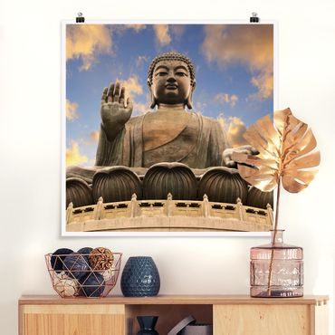 Poster - Großer Buddha - Quadrat 1:1