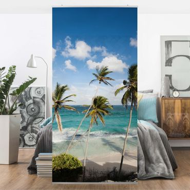 Raumteiler - Beach of Barbados 250x120cm