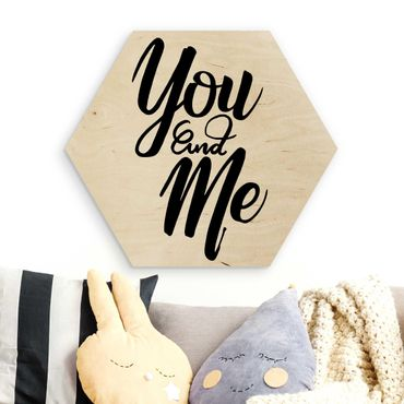 Hexagon Bild Holz - You and me