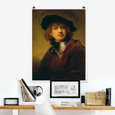 Poster - Rembrandt van Rijn - Selbstbildnis - Hochformat 3:4