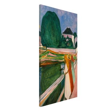 Magnettafel - Edvard Munch - Weiße Nacht - Memoboard Hochformat 4:3