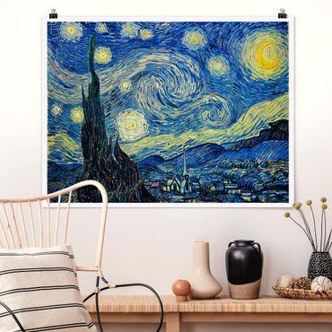 Poster - Vincent van Gogh - Sternennacht - Querformat 3:4