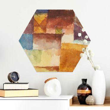 Hexagon Bild Alu-Dibond - Paul Klee - Einöde