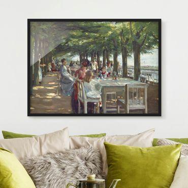 Bild mit Rahmen - Max Liebermann - Terrasse des Restaurants Jacob - Querformat 3:4