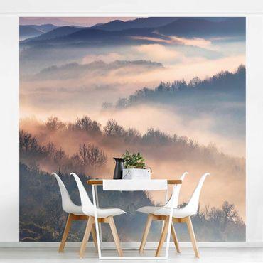 Fototapete - Nebel bei Sonnenuntergang - Fototapete