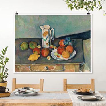 Poster - Paul Cézanne - Stillleben Milchkrug - Querformat 3:4