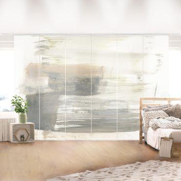 Schiebegardinen Set - Ein Hauch von Pastell I - Flächenvorhang