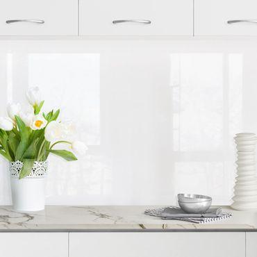 Küchenrückwand - Polarweiß