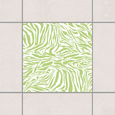 Fliesenaufkleber - Zebra Design Spring Green Grün