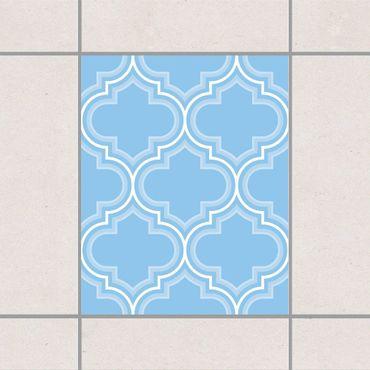 Fliesenaufkleber - Retro Marokko Light Blue
