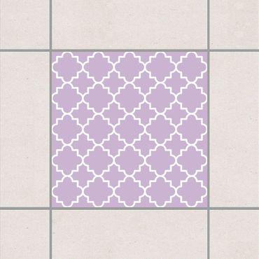 Fliesenaufkleber - Traditional Quatrefoil Lavender