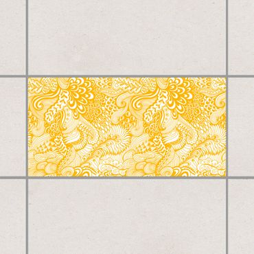 Fliesenaufkleber - Poseidons Garten Melon Yellow Gelb