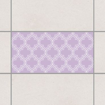 Fliesenaufkleber - Retro Marokko Lavender Flieder