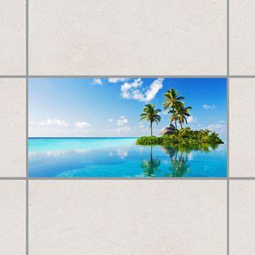 Fliesenaufkleber - Tropisches Paradies