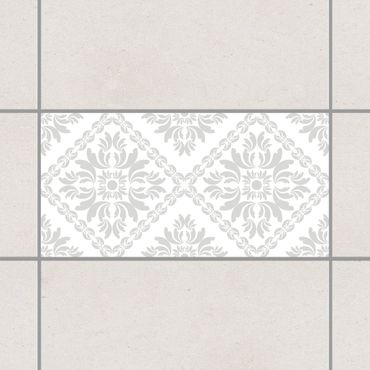 Fliesenaufkleber - Vera Rosa White Light Grey