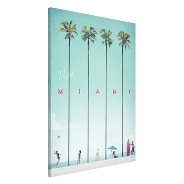 Magnettafel - Reiseposter - Miami - Memoboard Hochformat 3:2